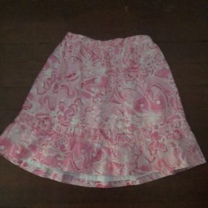 Lilly Pulitzer girl skirt